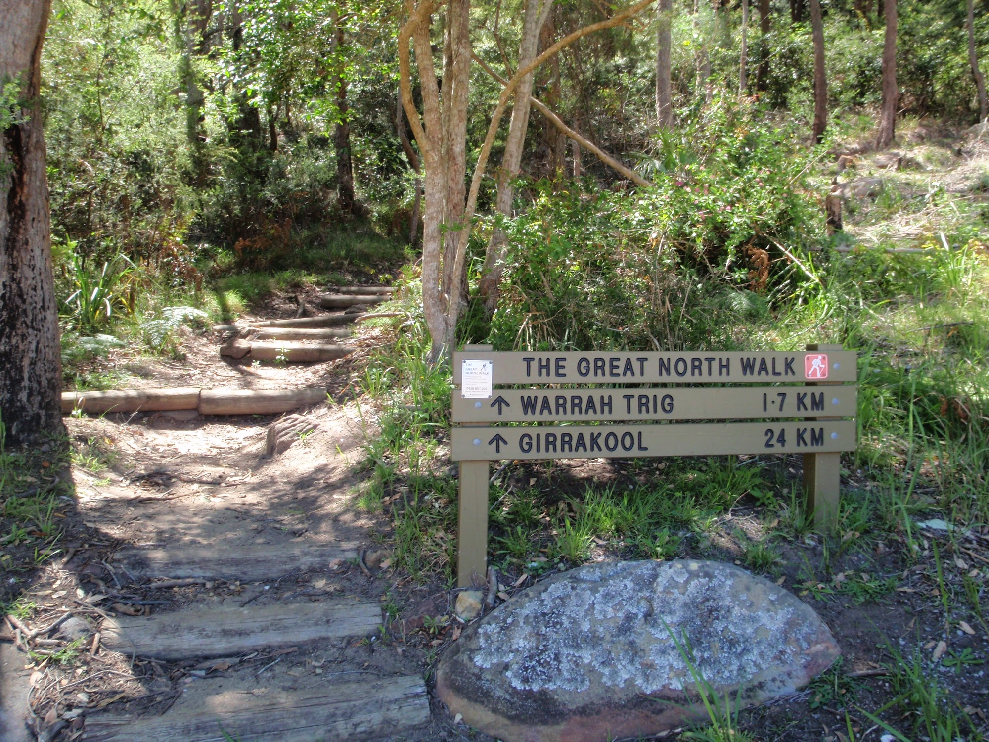 ww_photo_Great North Walk sign at bottom of Patonga Track